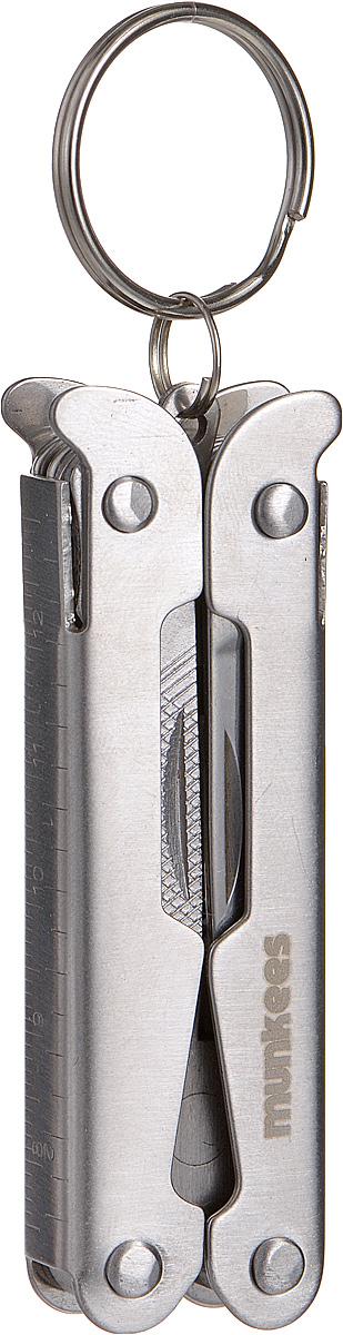 Мультитул Munkees Профессионал2571Munkees Профессионал - это тот самый швейцарский нож в новом воплощении, так называемый мультитул или мультиинструмент. Изделие выполнено из высококачественной стали. В этом мультитуле 9 функций: пассатижи, нож, напильник, отвертка плоская и крестовая, шило, открывалка №1, открывалка №2. В инструменте предусмотрено стальное кольцо для подвешивания на связку ключей, пояс или рюкзак.