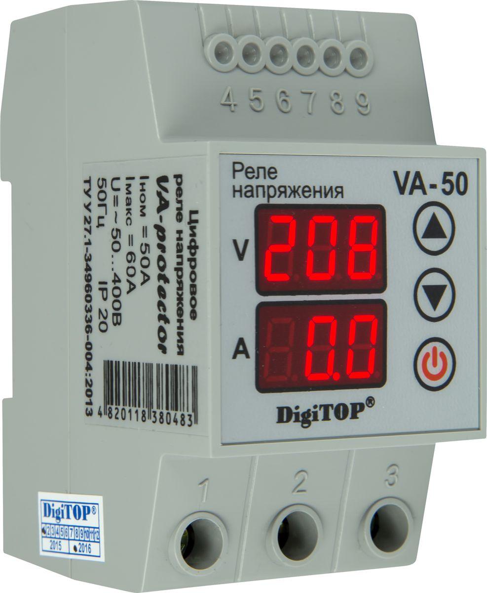 Реле напряжения DigiTOP VA-5000000000128Серия VA-protector – инновационное развитие серии Vp-protector. Реле напряжения (Устройства защиты по напряжению) предназначены для отключения подключенного электрооборудования, систем освещения и бытовой техники в случае возникновения «скачка» напряжения, что предотвращает их выход из строя и продлевает срок эксплуатации. Установка – на DIN-рейку во вводном щите на квартиру, дом, дачу, офис и тп.. Линейка приборов перекрывает все возможные запросы бытовых потребителей по мощности. Совмещает в себе функции 4-х приборов. Аналогов – нет. Максимум безопасности, удобства и технологичности при разумном вложении. Устройство защиты постоянно анализирует напряжение в сети и в случае выхода напряжения за установленные пределы происходит аварийное отключение потребителей. Для этого пользователь устанавливает верхний и нижний пределы напряжения и время, через которое РЕЛЕ НАПРЯЖЕНИЯ подключит нагрузку, после нормализации напряжения. Задержка на включение необходима для холодильников,...
