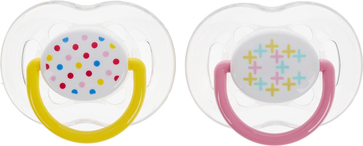 Philips Avent Пустышка силиконовая ортодонтическая Freeflow цвет желтый розовый от 6 до18 месяцев 2 шт SCF180/24SCF180/24_желтый, розовый, белыйОртодонтическая силиконовая пустышка Philips Avent Freeflow имеет шесть отверстий в ободке для большего комфорта для чувствительной кожи. Силикон не обладает вкусом и запахом, что делает этот материал наиболее приемлемым для младенца. Пустышка помогает удовлетворить естественную потребность в сосании, а также тренирует мышцы губ, языка и челюсти, что играет важную роль в развитии речи и способности пережевывать пищу. Плоские симметричные соски каплевидной формы учитывают естественное расположение неба, зубов и десен младенца, даже если соска переворачивается у него во рту. Защитный колпачок предназначен для гигиеничного хранения стерилизованных пустышек, а кольцевая ручка обеспечит более удобное вынимание пустышки. В комплекте 2 пустышки с колпачками.
