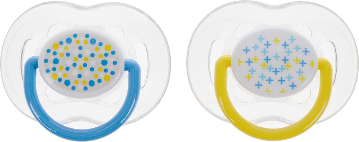 Philips Avent Пустышка силиконовая ортодонтическая Freeflow цвет голубой желтый от 6 до18 месяцев 2 шт SCF180/24SCF180/24_голубой, желтый, белыйОртодонтическая силиконовая пустышка Philips Avent Freeflow имеет шесть отверстий в ободке для большего комфорта для чувствительной кожи. Силикон не обладает вкусом и запахом, что делает этот материал наиболее приемлемым для младенца. Пустышка помогает удовлетворить естественную потребность в сосании, а также тренирует мышцы губ, языка и челюсти, что играет важную роль в развитии речи и способности пережевывать пищу. Плоские симметричные соски каплевидной формы учитывают естественное расположение неба, зубов и десен младенца, даже если соска переворачивается у него во рту. Защитный колпачок предназначен для гигиеничного хранения стерилизованных пустышек, а кольцевая ручка обеспечит более удобное вынимание пустышки. В комплекте 2 пустышки с колпачками.