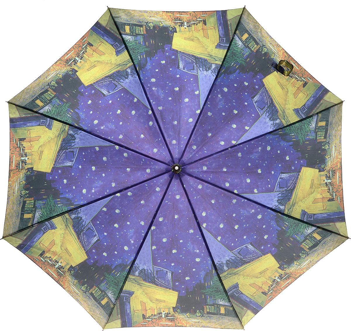 Зонт Kawaii Factory Van Gogh, механика, тростьKW042-000182Решив отдать должное гениальному художнику, мы создали зонт Van Gogh, где принтом служит одна из его картин. Как видите, аксессуар получился просто замечательным! Красочный зонтик Ван Гог выглядит оригинально, и привлечет к себе восхищенные взгляды и ценителей искусства, и просто прохожих, которые не имеют понятие об одноухом художнике. Зонт с картиной Ван Гога Звездная ночь покоряет и своей прочной конструкцией. Ему не страшен дождь и сильный ветер, удобная рукоятка словно идеально сделана для вашей ладони. Что говорить – купите и пользуйтесь.