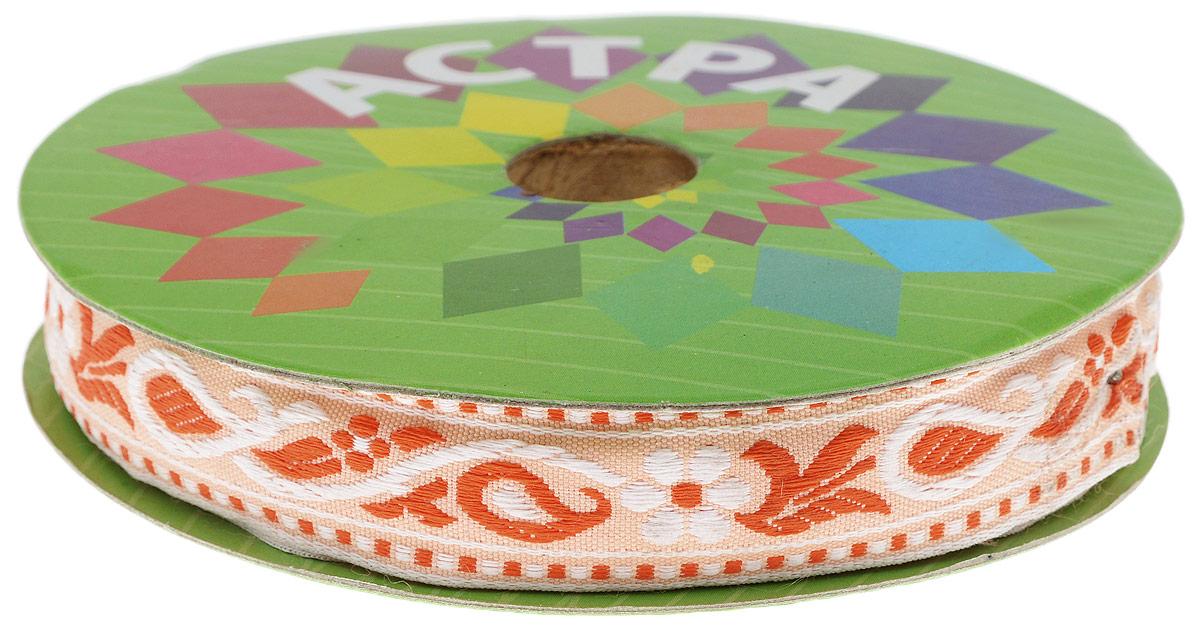 Тесьма декоративная Астра, цвет: оранжевый (3), ширина 2 см, длина 16,4 м. 77032707703270_3Декоративная тесьма Астра выполнена из текстиля и оформлена оригинальным орнаментом. Такая тесьма идеально подойдет для оформления различных творческих работ таких, как скрапбукинг, аппликация, декор коробок и открыток и многое другое. Тесьма наивысшего качества и практична в использовании. Она станет незаменимым элементом в создании рукотворного шедевра. Ширина: 2 см. Длина: 16,4 м.