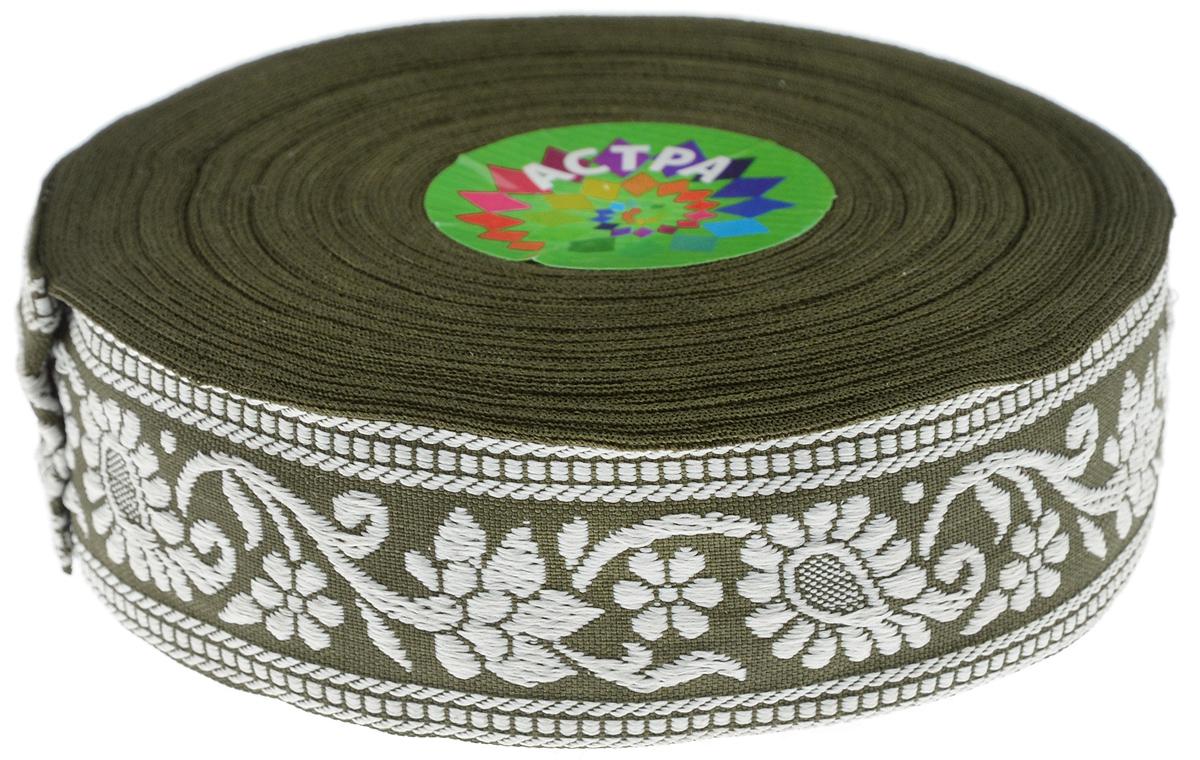Тесьма декоративная Астра, цвет: темно-зеленый (55L/17), ширина 3 см, длина 16,4 м. 77033387703338_55L/17Декоративная тесьма Астра выполнена из текстиля и оформлена оригинальным орнаментом. Такая тесьма идеально подойдет для оформления различных творческих работ таких, как скрапбукинг, аппликация, декор коробок и открыток и многое другое. Тесьма наивысшего качества и практична в использовании. Она станет незаменимом элементов в создании рукотворного шедевра. Ширина: 3 см. Длина: 16,4 м.