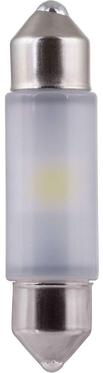 Лампа автомобильная светодиодная Philips Vision Festoon 10,5x38. 128016000KB1128016000KB1Создай свой собственный стиль на дороге с новыми светодиодами LED Vision от Philips. Vision LED ультрахолодный четкий белый свет 5 500 K - 12 В, равномерное рассеяние света на 360°, срок службы 12 лет. Доступен в Feston 10,5x38, T10 LED
