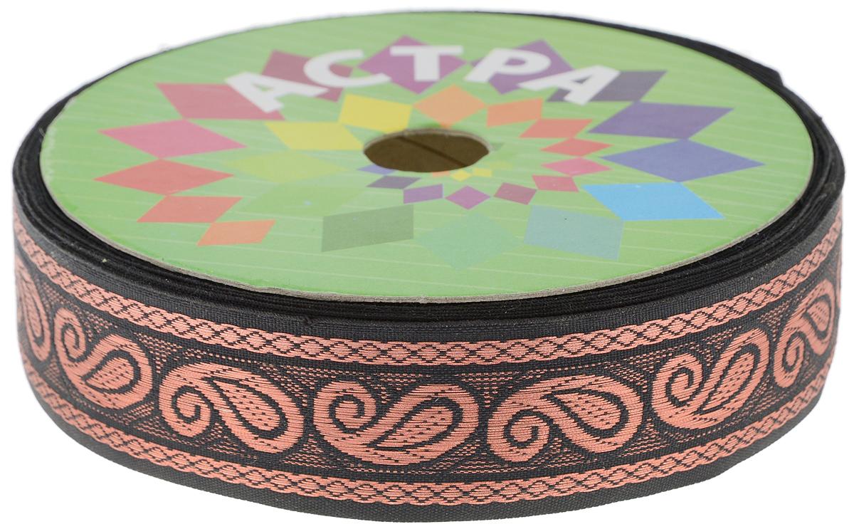 Тесьма декоративная Астра, цвет: бронзовый, ширина 3 см, длина 32,8 м. 77033667703366_черныйДекоративная тесьма Астра выполнена из текстиля и оформлена оригинальным орнаментом. Такая тесьма идеально подойдет для оформления различных творческих работ таких, как скрапбукинг, аппликация, декор коробок и открыток и многое другое. Тесьма наивысшего качества и практична в использовании. Она станет незаменимым элементом в создании рукотворного шедевра. Ширина: 3 см. Длина: 32,8 м.