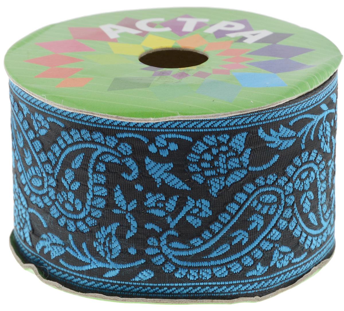Тесьма декоративная Астра, цвет: голубой (72), ширина 6 см, длина 9 м. 77034327703432_72Декоративная тесьма Астра выполнена из текстиля и оформлена оригинальным жаккардовым орнаментом. Такая тесьма идеально подойдет для оформления различных творческих работ таких, как скрапбукинг, аппликация, декор коробок и открыток и многое другое. Тесьма наивысшего качества и практична в использовании. Она станет незаменимым элементом в создании рукотворного шедевра. Ширина: 6 см. Длина: 9 м.