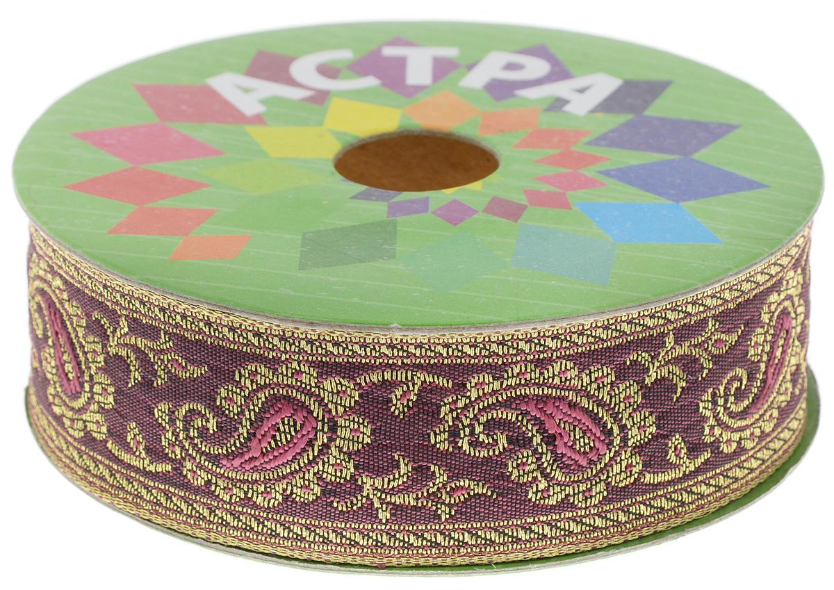 Тесьма декоративная Астра, цвет: бордовый (27), ширина 3 см, длина 9 м. 77034487703448_27Декоративная тесьма Астра выполнена из текстиля и оформлена оригинальным орнаментом. Такая тесьма идеально подойдет для оформления различных творческих работ таких, как скрапбукинг, аппликация, декор коробок и открыток и многое другое. Тесьма наивысшего качества и практична в использовании. Она станет незаменимым элементом в создании рукотворного шедевра. Ширина: 3 см. Длина: 9 м.