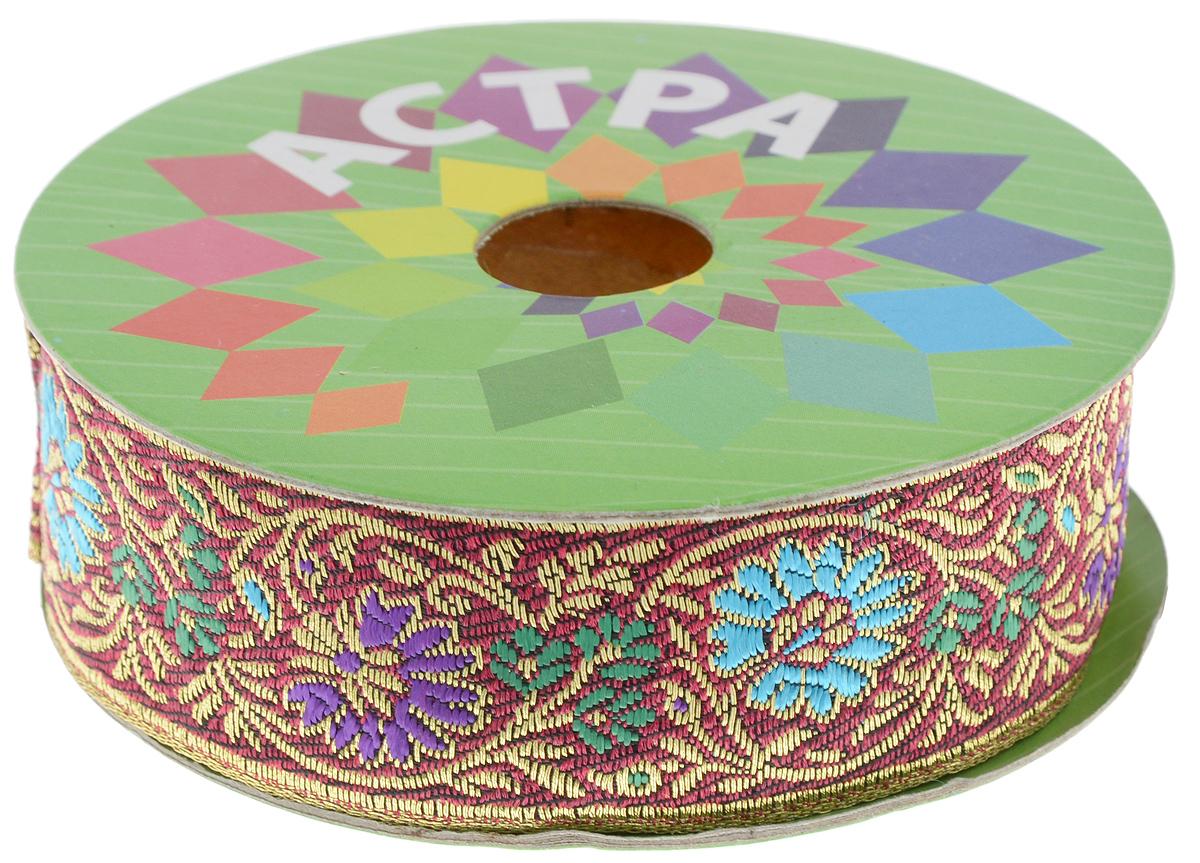 Тесьма декоративная Астра, 30 мм х 9 м. 7703441_С167703441_С16Декоративная тесьма Астра выполнена из жаккардового текстиля и оформлена оригинальным цветочным орнаментом. Такая тесьма идеально подойдет для декора одежды, игрушек, различных творческих работ, может применяться для декорирования коробок, цветочных композиций, в скрапбукинге. Тесьма наивысшего качества практична в использовании. Она станет незаменимым элементом в создании рукотворного шедевра. Ширина: 30 мм. Длина: 9 м.