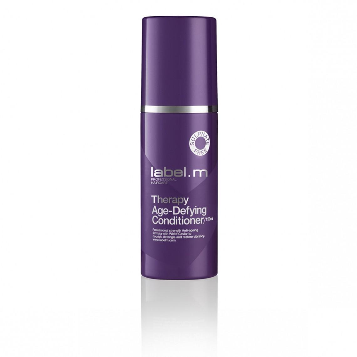 Label.m Кондиционер Антивозрастная Терапия, 150 млLCTA0150Питательная формула с Белой Икрой облегчает расчесывание и возвращает волосам здоровый вид. Придает волосам силу и возвращает шелковистость. Не содержит сульфаты, парабены и хлорид натрия.