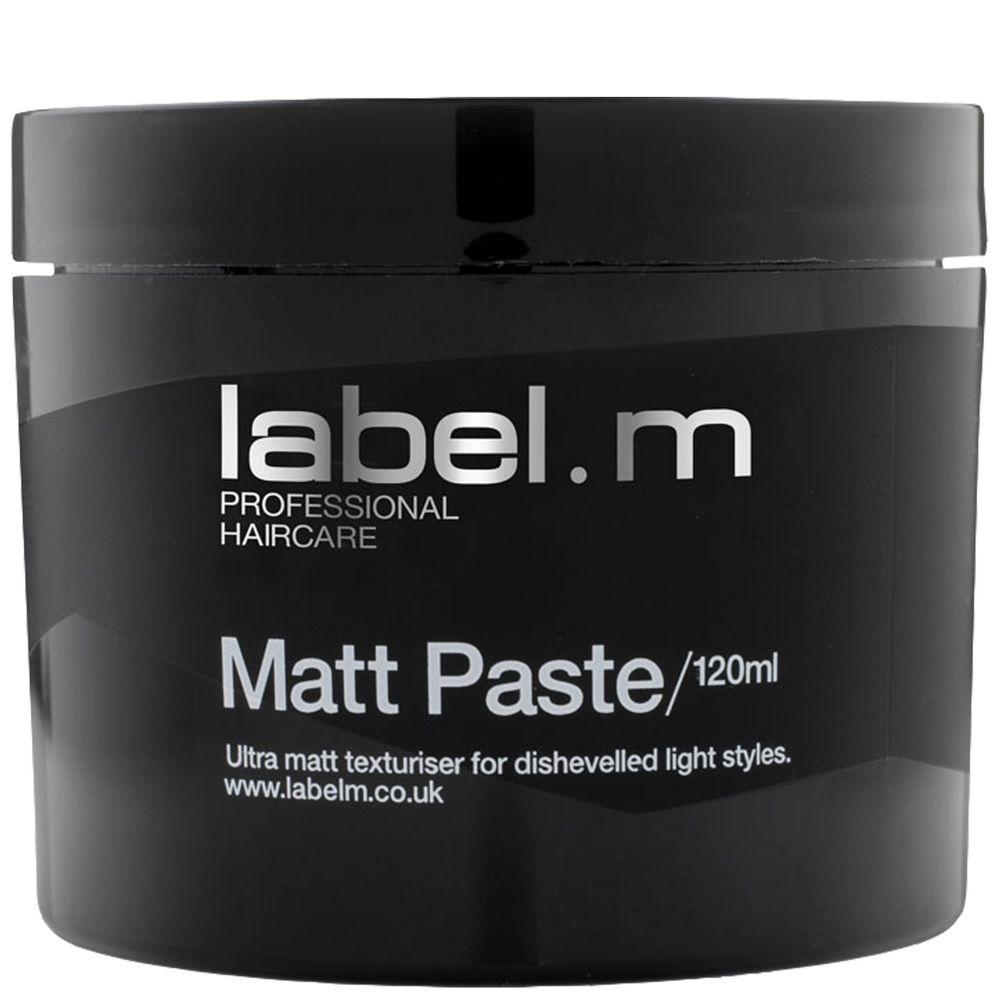 Label.m Паста матовая, 120 млLFMP0120Обеспечивает великолепную матовую текстуру и четкость формы. Подходит для коротких волос и волос средней длины. Подходит для коротких волос и волос средней длины. Содержит инновационный комплекс Enviroshield, который защищает волосы от термического воздействия во время укладки, от УФ лучей и воздействия окружающей среды, позволяет экспериментировать без вреда для волос.