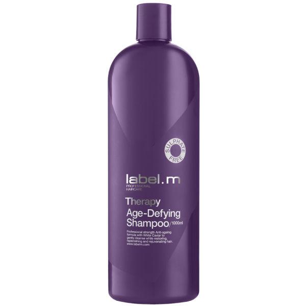 Label.m Шампунь Антивозрастная Терапия, 1000 млLSTA1000Шампунь Антивозрастная Терапия содержит Белую Икру, которая мягко очищает волосы, одновременно восстанавливает, укрепляет и омолаживает их. Помогает восстановить поврежденные волосы и обеспечивает интенсивное увлажнение слабым и тусклым волосам, придавая им силу, блеск и молодой вид. Не содержит сульфаты, парабены и хлорид натрия.