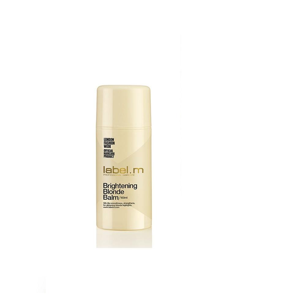 Label.m Осветляющий бальзам для блондинок Brightening Blonde Balm, 100 млLFBB0100*Лёгкий питательный и укрепляющий Бальзам для укладки. Осветляет и придаёт волосам блеск, защищает от высоких температур во время укладок, от пушения, влажности и УФ лучей. Придаёт шелковистую гладкость и искристое завершение светлым волосам.