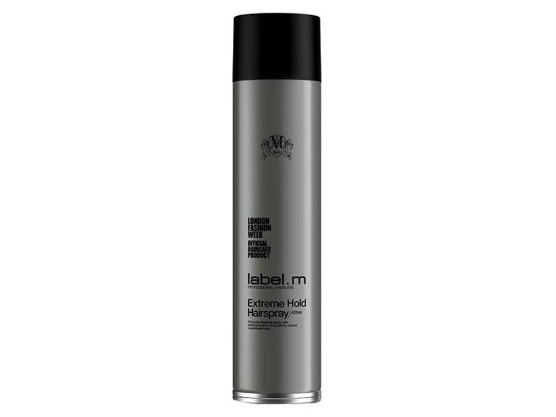 Label.m Лак супер сильной фиксации Extreme Hold Hairspray, 400 млLFEH0400*Label.M Extreme Hold Hairspray Лак супер сильной фиксации В состав лака включён витамин В и комплекс label.m - Enviroshield Complex, он надёжно защитит абсолютно любые волосы от плохого влияния на них ультрафиолетовых лучей, а разглаживающие микроэлементы помогут вам сделать великолепную причёску. В формулу лака входит полимерный комплекс, он позволит эффективно зафиксировать прическу, при этом волосы не станут тяжелее. Лак позволит вам сильно зафиксировать абсолютно любую причёску. Он хорошо подойдёт для постоянного применения, при этом создаст объёмность волосам и хорошо фиксирует их. С его применением вы бдите постоянно хорошо выглядеть, где бы вы, не находились. Постоянное применение лака позволит вам защитить волосы от вредного воздействия солнца и окружающей среды. Его применение позволит вам иметь целый день безупречную укладку. После его нанесения ваша причёска будет надёжно зафиксирована, и при этом они будут великолепно выглядеть.