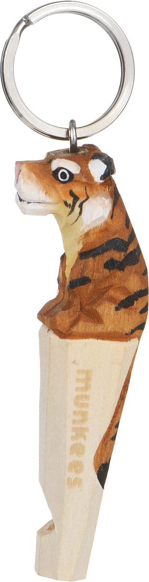 Брелок-свисток Munkees Тигр3353Брелок-свисток Munkees Тигр - это свисток с вырезанной вручную фигуркой, выполненной из дерева. Фигурка символизирует знак зодиака по восточному календарю. Сам свисток можно использовать на групповых тренировках, можно в качестве дрессировки собак, а можно и в экстренных случаях, обратить на себя внимание либо отпугнуть недоброжелателей или агрессивных животных. Такой свисток станет оригинальным и практичным подарком.