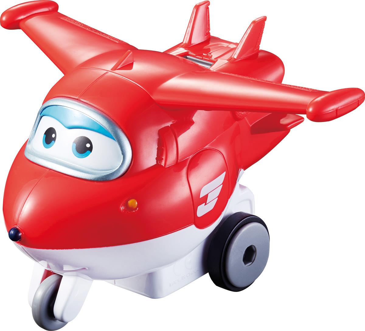 Super Wings Инерционный самолет ДжеттYW710110Инерционный самолет Super Wings Джетт потрясающий подарок для маленьких любителей команды трансформеров с крыльями. Теперь вы сами выбираете, в какую страну отправится красно-белый реактивный самолет, и какие приключения ждут его вместе с друзьями Super Wings! Просто поставьте самолет на ровную поверхность, отведите назад, отпустите и забавный летающий курьер понесется вперед сам. Совершенно точно, Джетт готов доставить посылку вовремя всегда!