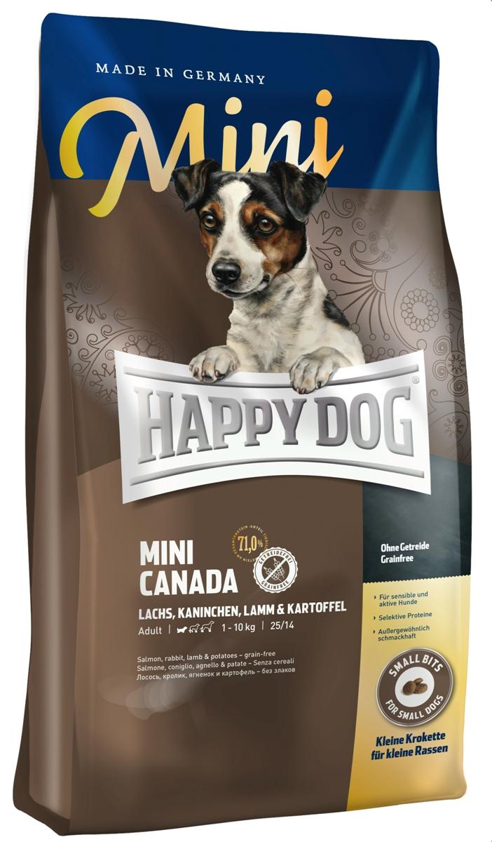 Сухой корм Happy Dog Канада для собак мелких пород, лосось, кролик, ягненок, 4 кг60330Корм Happy Dog Канада, не содержащий злаков, оптимально подходит для чувствительных собак. Корм разработан специально для взрослых собак мелких пород. В состав исключительно вкусного полнорационного корма входит нежное мясо лосося, вкусное мясо кролика и ягненка, а также картофель, не содержащий глютена. Состав: картофельные хлопья (47%), лосось (10%), кролик (10%), ягненок (10%), птичий жир, картофельный белок, свекольная пульпа (обессахаренная), гидролизат печени, масло из семян подсолнечника (1,5%), яблочная пульпа (1,0%), клетчатка, сухое цельное яйцо, рапсовое масло (0,5%), семя льна (0,4%), хлорид натрия, дрожжи, хлорид калия, клюква (0,22%), морские водоросли (0,15%), мясо моллюска (0,04%), юкка шидигера (0,02%), расторопша, артишок, одуванчик, имбирь, березовый лист, крапива, ромашка, кориандр, розмарин, шалфей, корень солодки, тимьян, дрожжи (экстрагированные), (общий объем сухих трав: 0,15%). Аналитический состав:...