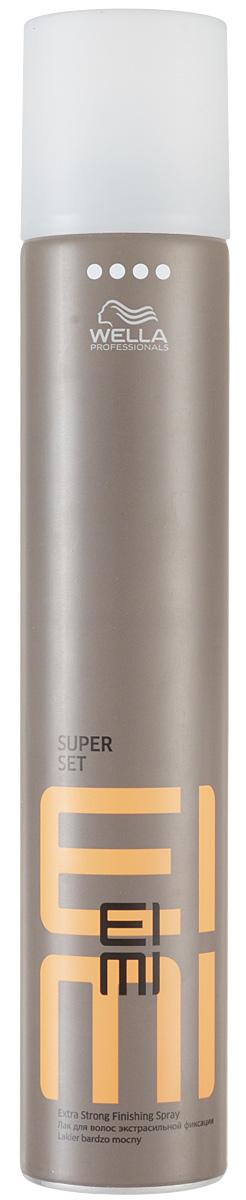 Wella Лак для волос ультрасильной фиксации Finish Super Set, 500 мл81511626Wella Finish Super Set Лак для волос ультрасильной фиксации 300 мл профессиональное средство для максимальной фиксации волос при создании любых, даже самых смелых причесок. Специальная разработка специалистов Wella Professional для ежедневного использования, лак позволяет сохранить идеальную форму прическу в течение всего дня в любую погоду. Подходит для всех типов волос. Благодаря сбалансированному составу, обогащенному витаминным комплексом и минералами, лак Wella FINISH SUPER SET не только прекрасно справляется с задачей надолго сохранить безупречность и красоту прически, но и придает волосам здоровый вид и натуральный блеск. Wella FINISH SUPER SET поможет сохранить прическу в любую погоду: защитит волосы от пересыхания и негативного влияния ультрафиолетовых лучей в солнечную погоду, и не позволит испортить прическу и ваше настроение в дождливый или ветреный день. Удобный распылитель позволит равномерно и аккуратно распределить лак, надежно фиксируя даже самые непослушные...