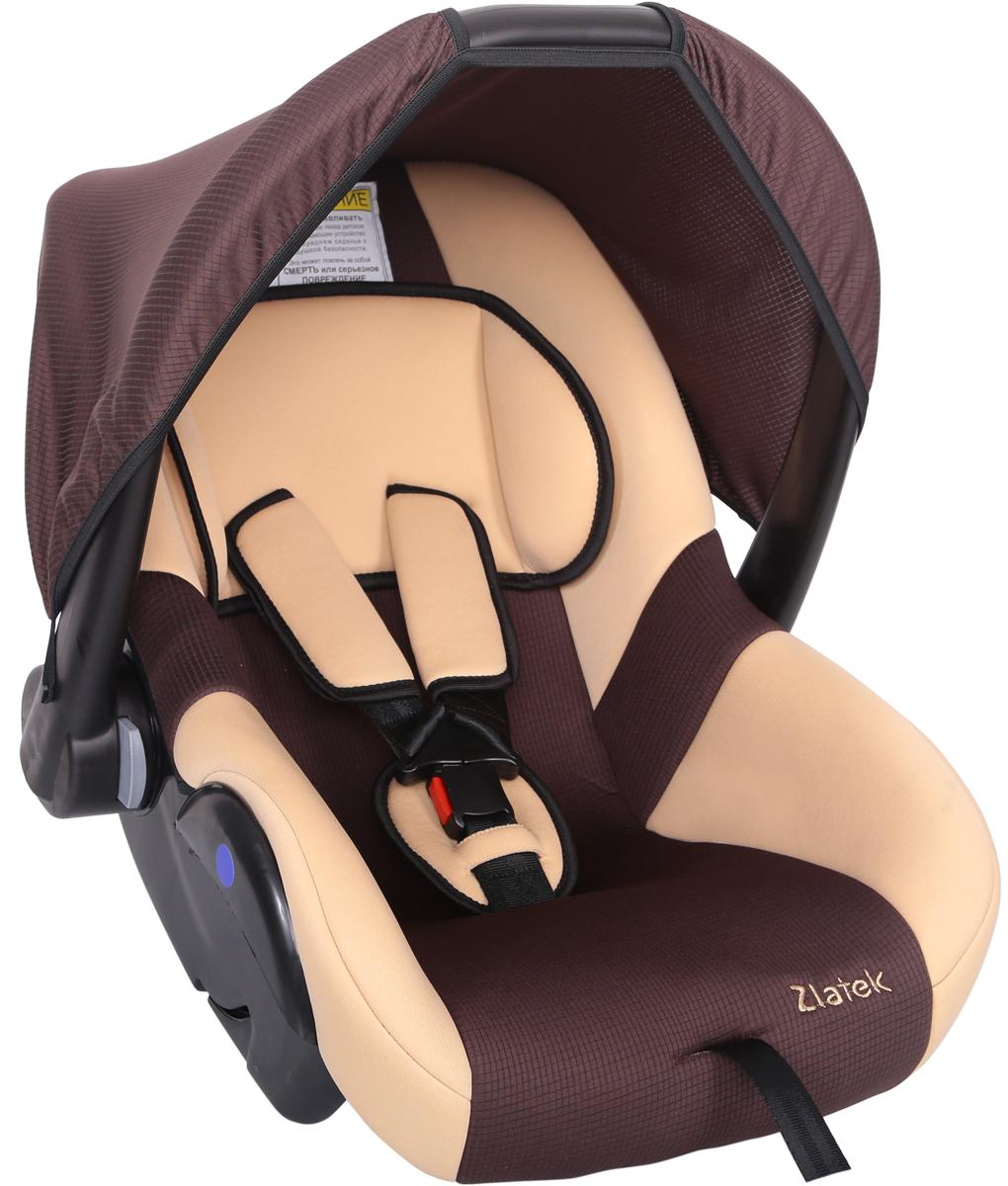 Zlatek Автокресло Colibri цвет коричневыйКРЕС0181Детское автомобильное кресло Zlatek «Colibri», для детей от рождения до полутора лет, весом до 13 кг. Относится к возрастной группе 0, 0+. Мягкий вкладыш-подголовник обеспечивает дополнительный комфорт во время поездки. Съемный капюшон защищает ребенка от солнца, а удобная ручка позволяет без лишних усилий переносить ребенка, как в обычной люльке. Ярко выраженная боковая защита позволяет повысить уровень безопасности при боковых ударах. Детские удерживающие устройства Zletek разработаны и сделаны в России с учетом анатомии детей. Двухпозиционная регулировка внутренних ремней позволяет адаптировать кресло Zlatek «Colibri» под зимнюю и летнюю одежду ребенка. Автокресло успешно прошло все необходимые краш-тесты и имеет сертификат соответствия техническому регламенту РФ и таможенному союзу. Автокресло Zlatek «Colibri» упаковано в защитную полиэтиленовую пленку.