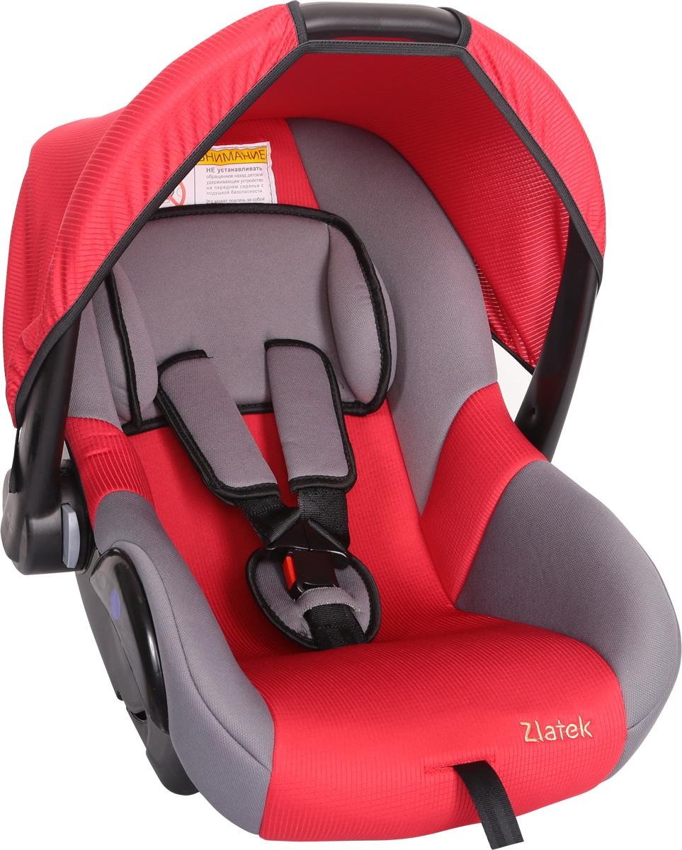 Zlatek Автокресло Colibri цвет красныйКРЕС0182Детское автомобильное кресло Zlatek «Colibri», для детей от рождения до полутора лет, весом до 13 кг. Относится к возрастной группе 0, 0+. Мягкий вкладыш-подголовник обеспечивает дополнительный комфорт во время поездки. Съемный капюшон защищает ребенка от солнца, а удобная ручка позволяет без лишних усилий переносить ребенка, как в обычной люльке. Ярко выраженная боковая защита позволяет повысить уровень безопасности при боковых ударах. Детские удерживающие устройства Zletek разработаны и сделаны в России с учетом анатомии детей. Двухпозиционная регулировка внутренних ремней позволяет адаптировать кресло Zlatek «Colibri» под зимнюю и летнюю одежду ребенка. Автокресло успешно прошло все необходимые краш-тесты и имеет сертификат соответствия техническому регламенту РФ и таможенному союзу. Автокресло Zlatek «Colibri» упаковано в защитную полиэтиленовую пленку.