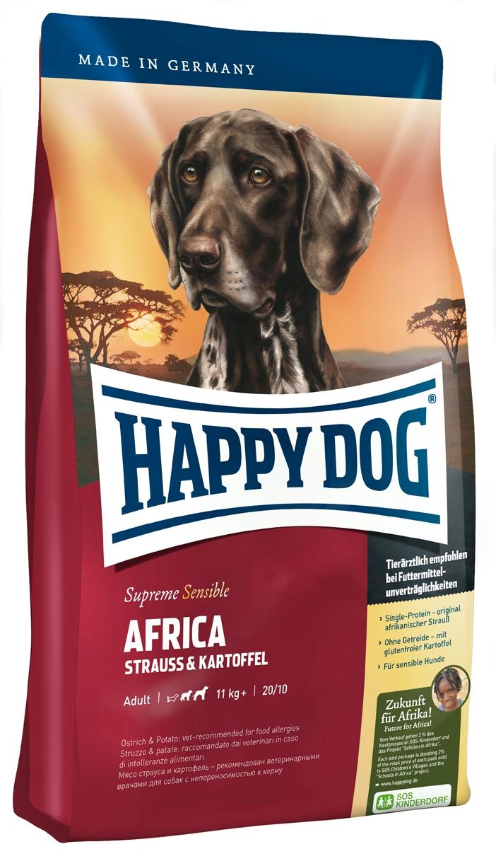 Корм сухой Happy Dog Тоскана для собак средних и крупных пород, со страусом и картофелем, 1 кг03546Happy Dog Тоскана - полнорационный корм для всех взрослых собак весом от 11 кг с нормальной потребностью в энергии. Необыкновенно вкусный полнорационный корм идеален для всех требовательных лакомок, которые предпочитают нестандартный корм или очень разборчивы в еде. Он отлично подходит также для собак средних и крупных пород с чувствительным пищеварением, так как учитывает их особые потребности. Мясо страуса является источником очень редкого белка и идеально подходит для собак, страдающих пищевой непереносимостью. Картофель не содержит глютена и рекомендован для собак, не переносящих злаки. Эксклюзивную рецептуру дополняют ценные Омега-3 и Омега-6 жирные кислоты, которые гарантируют собаке здоровую кожу и блестящую шерсть. Состав: картофельные хлопья (48%), мясо страуса (18%), картофель, масло из семян подсолнечника, свекольная пульпа, гидролизат печени, яблочная пульпа (0,8%), рапсовое масло, морская соль, дрожжи (экстрагированные). ...