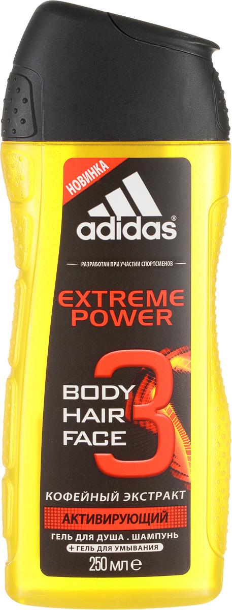 Adidas Гель для душа, для тела и волос Extreme Power, кофейный экстракт, 250 мл340010732081Гель для душа, для тела и волос от Adidas с ароматом Extreme Power. Разработан на основе уникального комплекса сбалансированных эфирных масел с натуральными ингредиентами. Обогащенная витаминами и минералами формула, восстанавливающая и расслабляющая с кофейным экстрактом. Обладает антисептическим и освежающим действием. Характеристики: Объем: 250 мл. Производитель: Франция. Товар сертифицирован.
