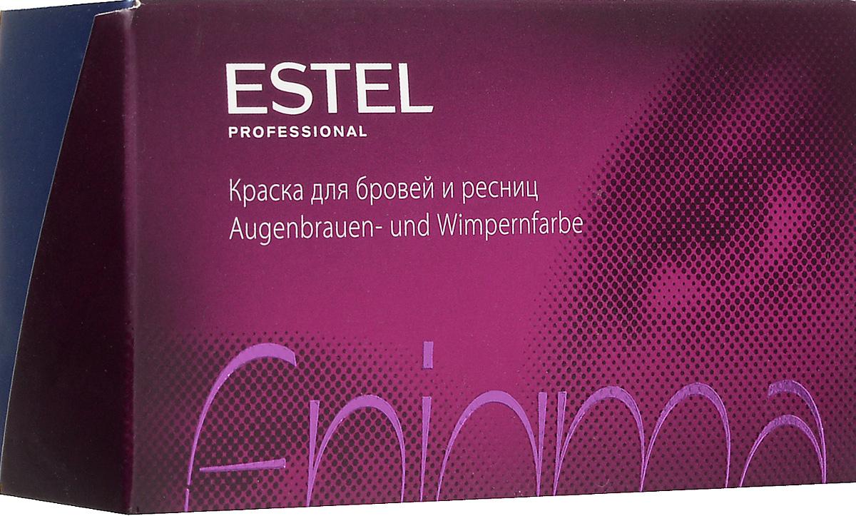 Estel Enigma Краска для бровей и ресниц Тон иссиня-черный 20 мл + 20 млEN/2Ультрамягкая формула краски Estel Enigma для бровей и ресницобеспечивает превосходный стойкий результат окрашивания. Компоненты легко смешиваются и дозируются. Красящая смесь пластична, удобна для нанесения, содержит мерцающий пигмент. Краска проста и безопасна в применении,экономична в использовании. Удобный набор для окрашивания содержит все необходимо. В комплект краски входят: туба с крем-краской, 20 мл флакон с проявляющей эмульсией, 20 мл мисочка для краски, лопаточка для размешивания и нанесения, защитные листочки для век, инструкция по применению.
