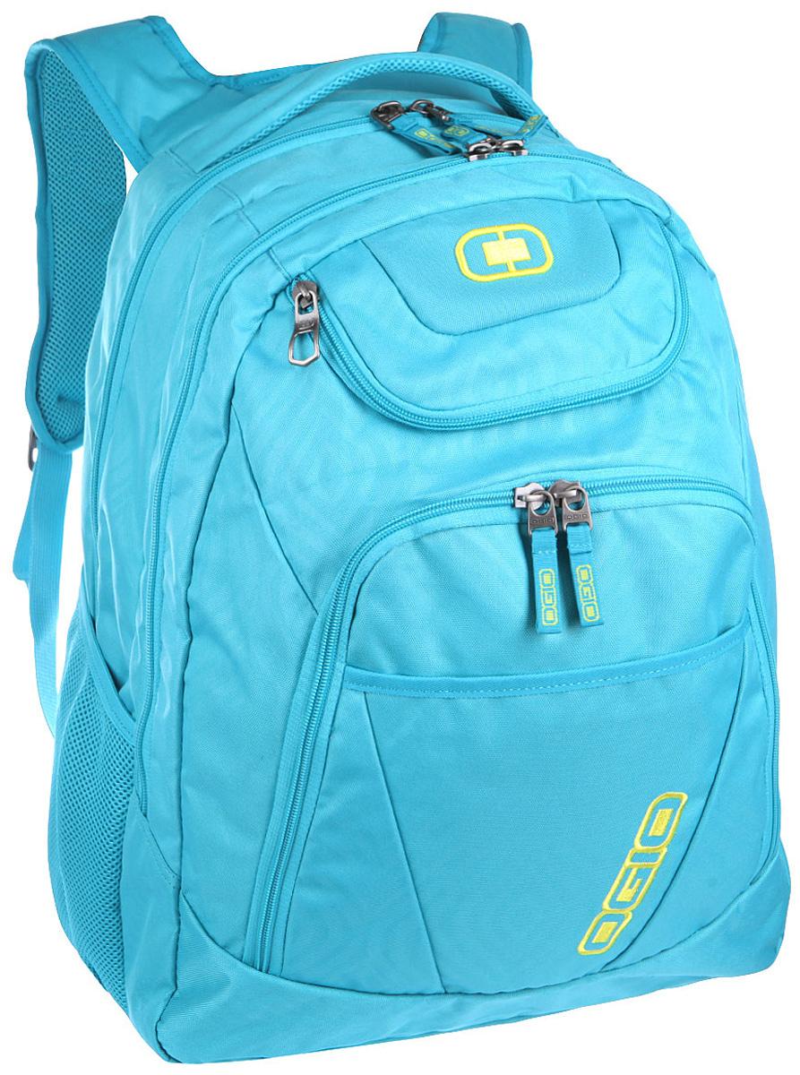 Рюкзак городской Ogio Tributante Pack, цвет: голубой, 40 л111091-436OGIO – высокотехнологичный продукт от американского производителя. Вместимые сумки для путешествий, работы и отдыха, специальная коллекция городских сумок для женщин, жесткие боксы под мелкий инвентарь и многое другое. Женский рюкзак, который сочетает в себе как стильный внешний вид, так и высокую технологичность. Имеются специализированные отсеки для ноутбука и планшета, которые позволят Вам не переживать за сохранность техники. Эргономичная мягкая спинка с сетчатыми панелями обеспечивает отличную продуваемость, которая особенно необходима в теплое время года.