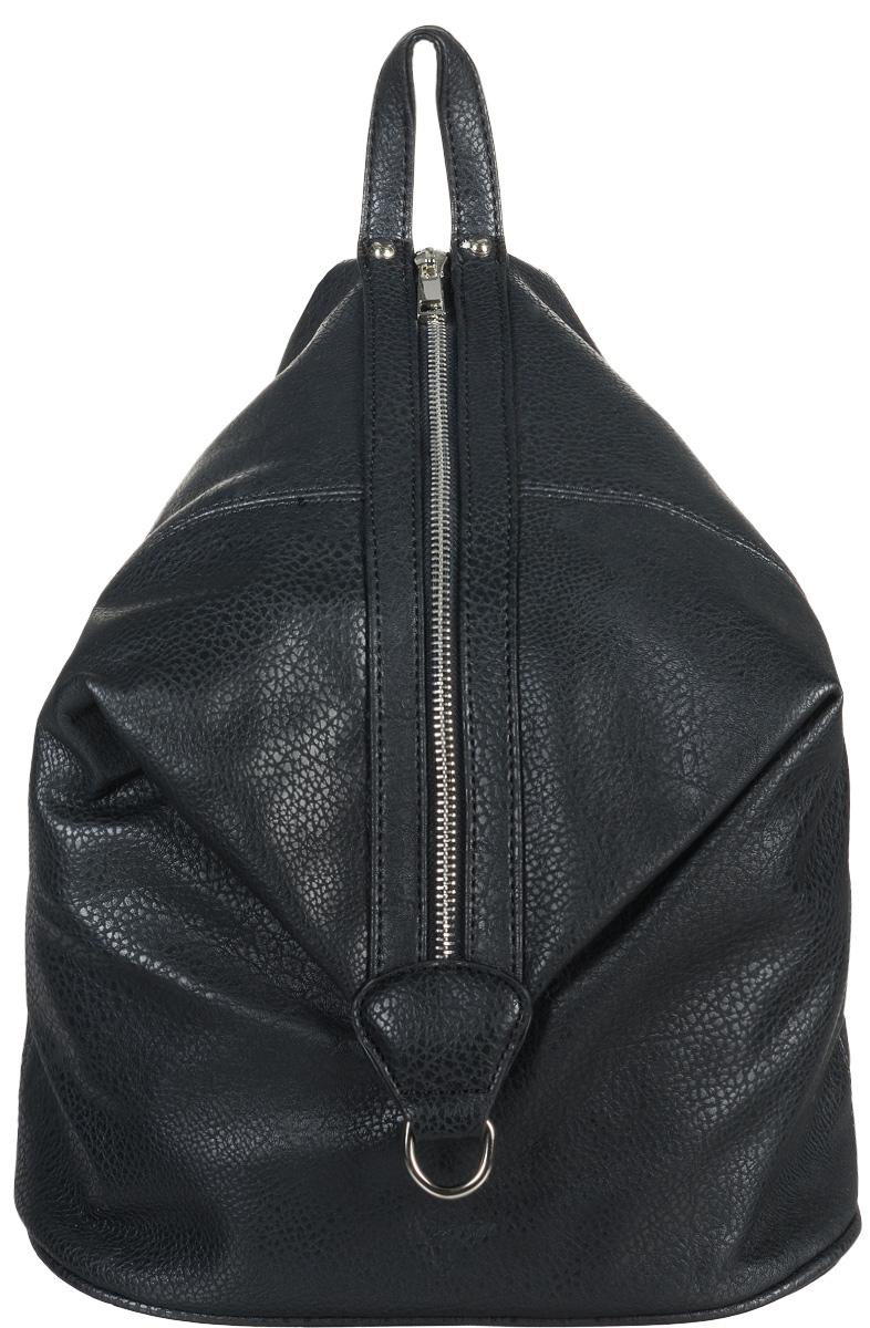 Рюкзак женский Sela, цвет: черный. BGp-145/185-6302BGp-145/185-6302Рюкзак Sela - это стильный городской рюкзак на каждый день. Он выполнен из полиуреатана с зернистой фактурой под кожу и оснащен двумя плечевыми регулируемыми ремнями на спинке и удобной ручкой для переноски. Рюкзак закрывается вертикально на молнию, внутри имеет одно вместительное отделение с одним накладными карманом и одним прорезным карманом на застежке-молнии. Внизу изделие имеет конструкцию с магнитной кнопкой для изменения размера и формы. Рюкзак Sela станет идеальным дополнением образа современной девушки, которая не хочет носить в руках сумочку.