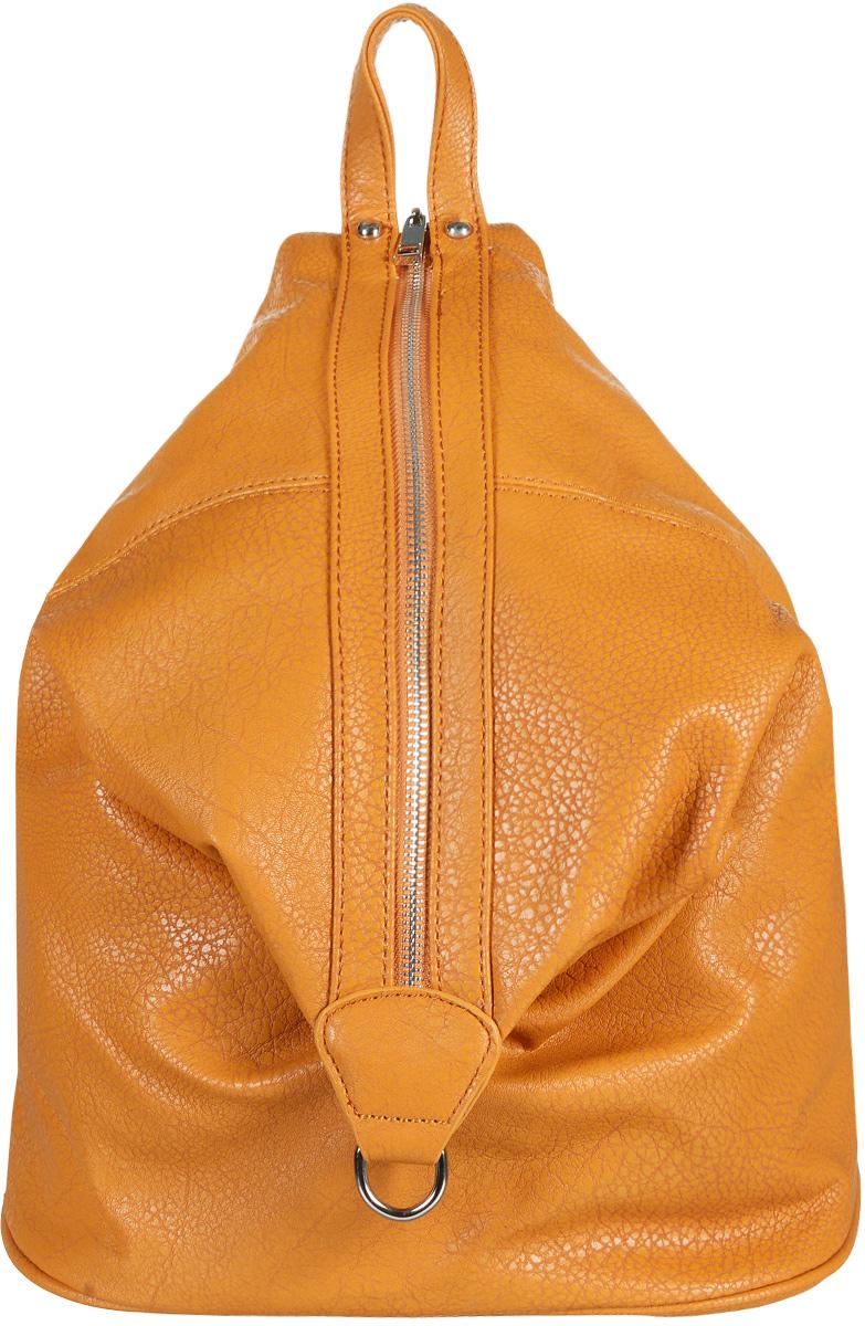 Рюкзак женский Sela, цвет: светло-коричневый. BGp-145/185-6302BGp-145/185-6302Рюкзак Sela - это стильный городской рюкзак на каждый день. Он выполнен из полиуреатана с зернистой фактурой под кожу и оснащен двумя плечевыми регулируемыми ремнями на спинке и удобной ручкой для переноски. Рюкзак закрывается вертикально на молнию, внутри имеет одно вместительное отделение с одним накладными карманом и одним прорезным карманом на застежке-молнии. Внизу изделие имеет конструкцию с магнитной кнопкой для изменения размера и формы. Рюкзак Sela станет идеальным дополнением образа современной девушки, которая не хочет носить в руках сумочку.