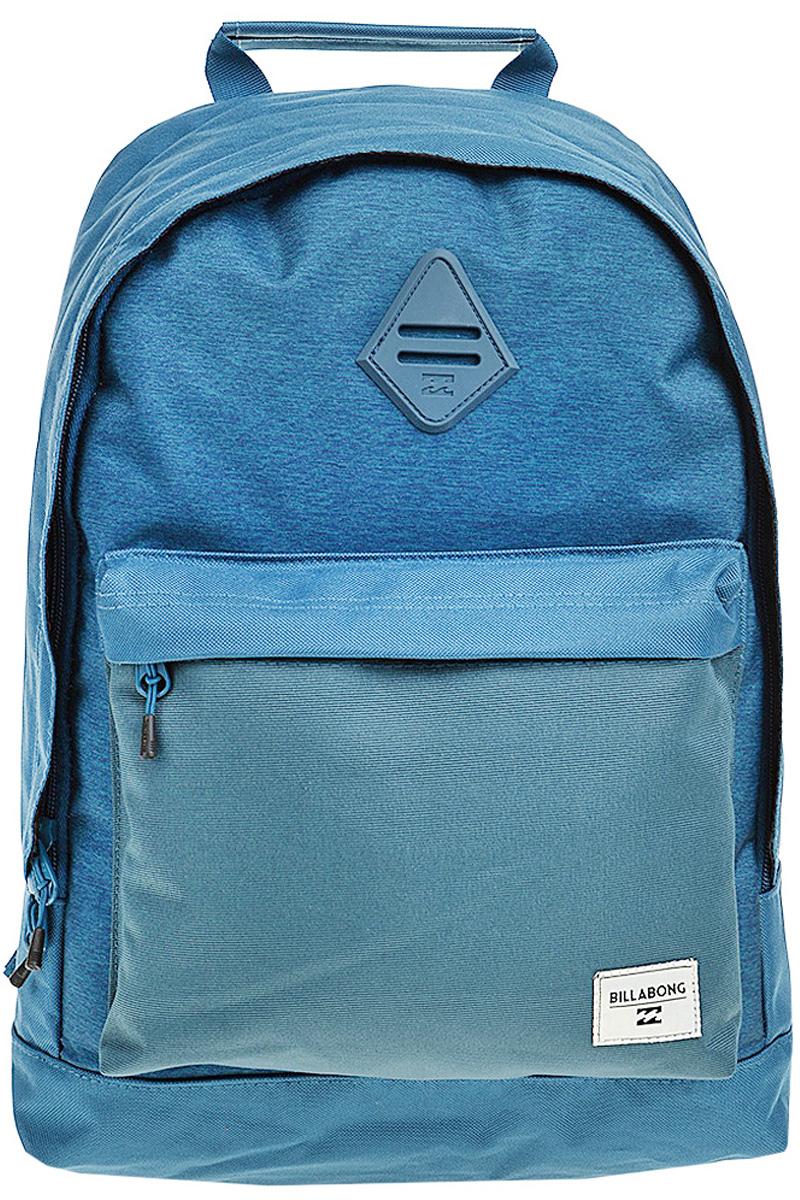 Рюкзак городской Billabong All Day, цвет: синий, серый , 20 лW5BP01Практичный вместительный рюкзак, готовый вписаться в Ваш стиль и вместить все Ваши вещи, необходимые для учебы, работы или просто прогулок по городу.
