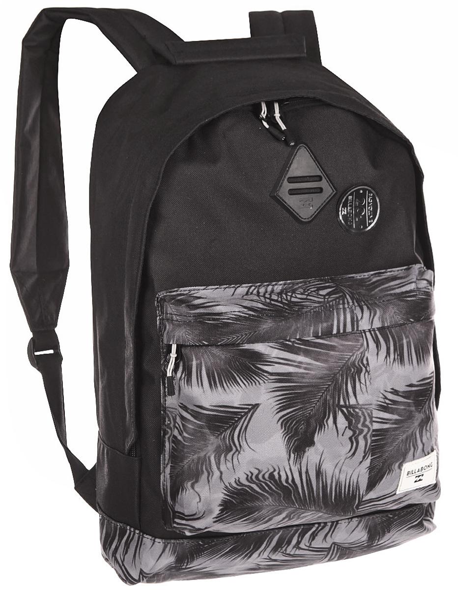 Рюкзак городской Billabong All Day, цвет: черный , 20 лW5BP01Практичный вместительный рюкзак, готовый вписаться в Ваш стиль и вместить все Ваши вещи, необходимые для учебы, работы или просто прогулок по городу.
