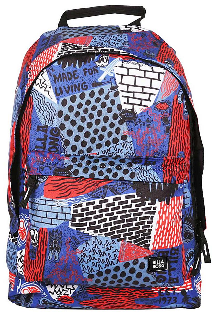 Рюкзак городской Billabong All Day, цвет: синий , 20 лU5BP01Практичный вместительный рюкзак, готовый вписаться в Ваш стиль и вместить все Ваши вещи, необходимые для учебы, работы или просто прогулок по городу.