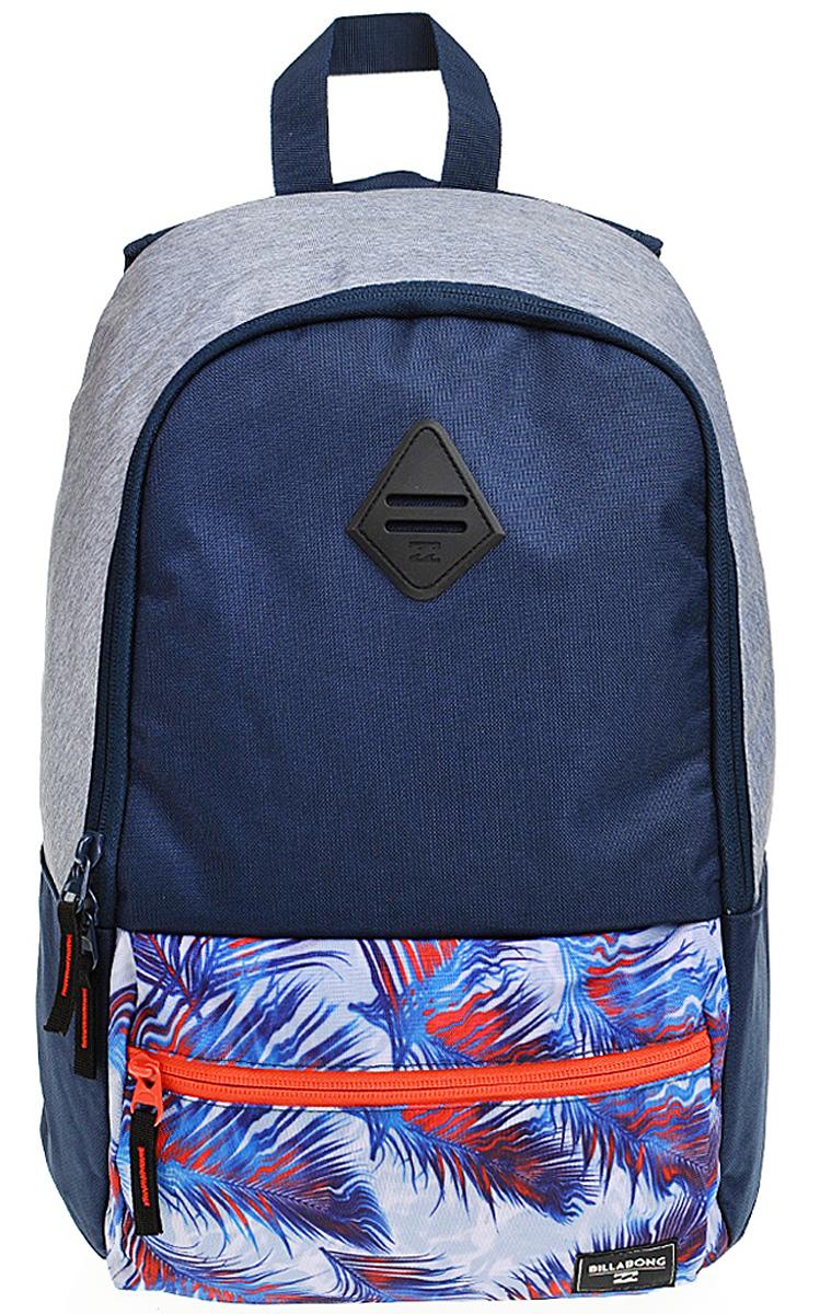 Рюкзак городской Billabong Atom, цвет: синий , 20 лW5BP02Практичный рюкзак, простой, не громоздкий, но при этом достаточно вместительный. Внутренние карманы для ноутбука и документов позволят удобно разложить важнейшие вещи, не требуя большого количества отсеков рюкзака.