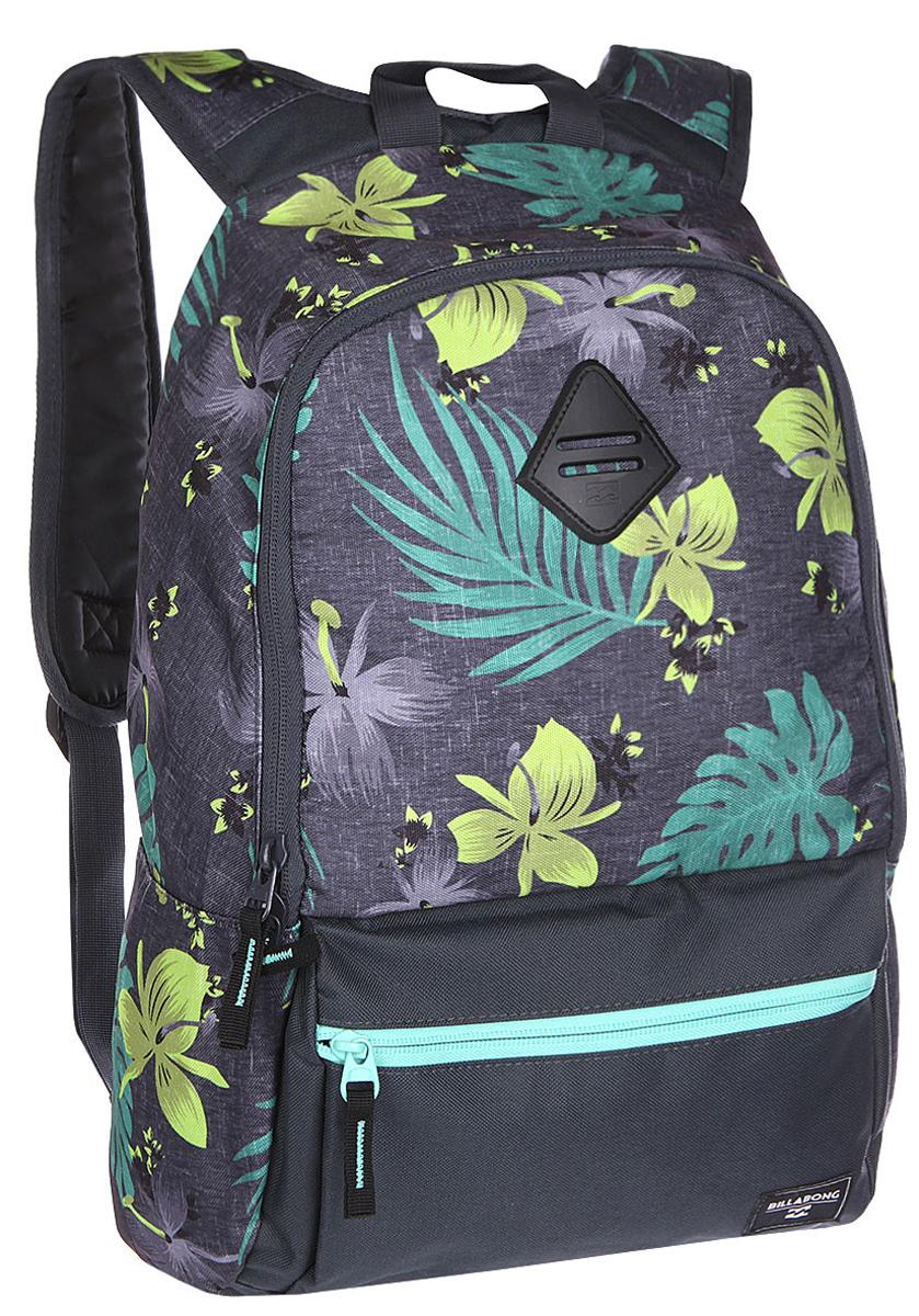 Рюкзак городской Billabong Atom, цвет: серый, 20 лU5BP03Практичный рюкзак, простой, не громоздкий, но при этом достаточно вместительный. Внутренние карманы для ноутбука и документов позволят удобно разложить важнейшие вещи, не требуя большого количества отсеков рюкзака.