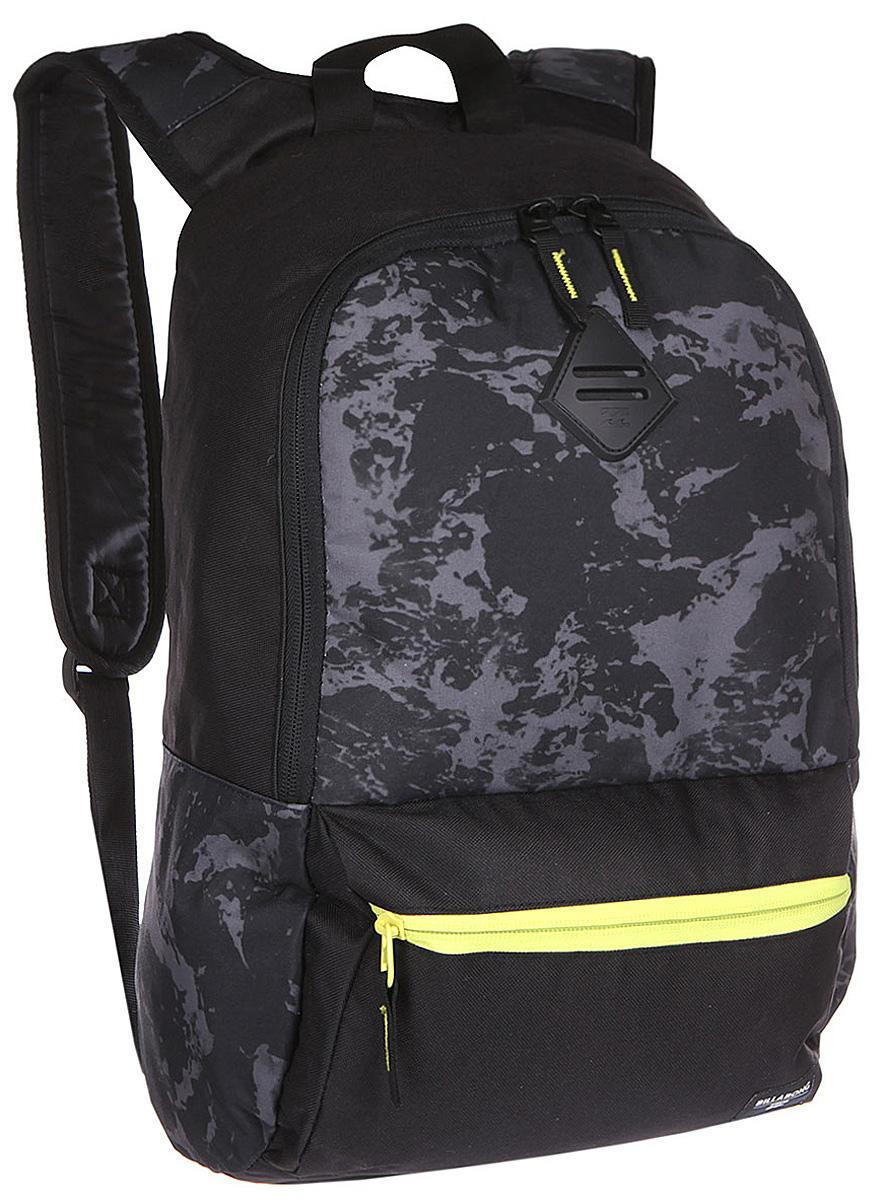 Рюкзак городской Billabong Atom, цвет: черный, 20 лU5BP03Практичный рюкзак, простой, не громоздкий, но при этом достаточно вместительный. Внутренние карманы для ноутбука и документов позволят удобно разложить важнейшие вещи, не требуя большого количества отсеков рюкзака.