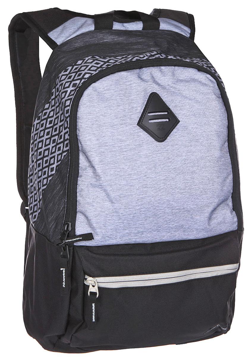 Рюкзак городской Billabong Atom, цвет: светло-серый , 20 лU5BP03Практичный рюкзак, простой, не громоздкий, но при этом достаточно вместительный. Внутренние карманы для ноутбука и документов позволят удобно разложить важнейшие вещи, не требуя большого количества отсеков рюкзака.