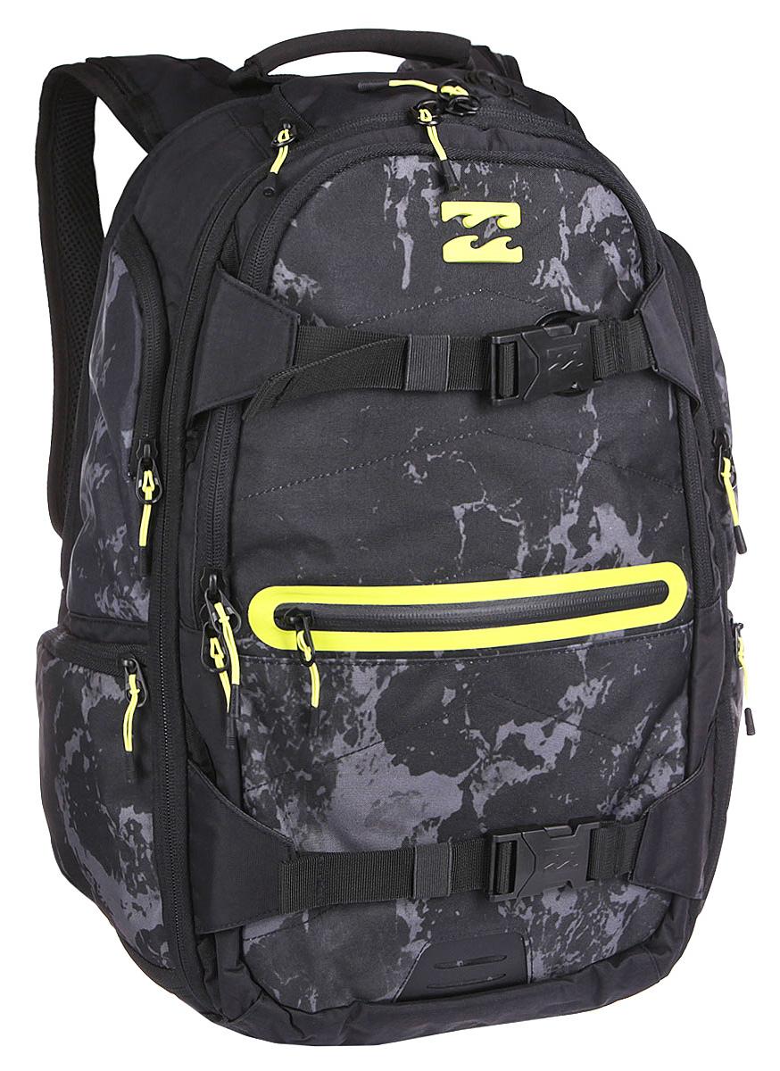 Рюкзак городской Billabong Combat Backpack, цвет: черный , 35 лU5BP11Невероятно вместительный рюкзак Billabong Combat готов стать не только отличным спутником в городских приключениях, но и вместит все необходимые гаджеты и вещи для длительных поездок. Множество внешних карманов, мягкий карман для очков, отдельный отсек для 15-дюймового ноутбука, планшета и отсек для документов.