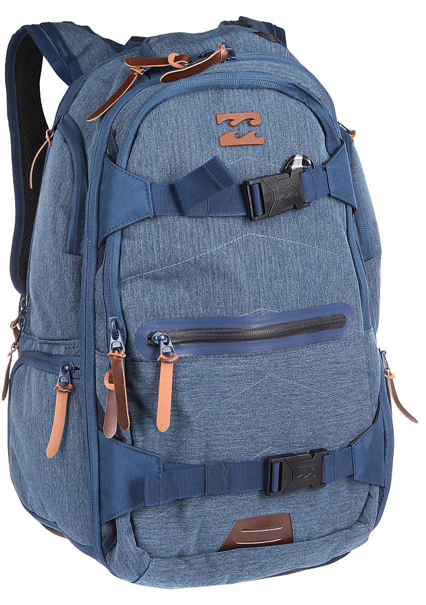 Рюкзак городской Billabong Combat Backpack, цвет: морской , 35 лU5BP11Невероятно вместительный рюкзак Billabong Combat готов стать не только отличным спутником в городских приключениях, но и вместит все необходимые гаджеты и вещи для длительных поездок. Множество внешних карманов, мягкий карман для очков, отдельный отсек для 15-дюймового ноутбука, планшета и отсек для документов.