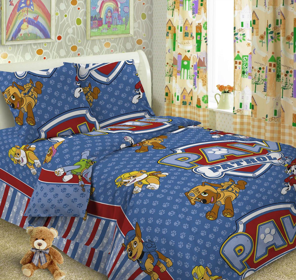 Letto Комплект детского постельного белья Догги цвет голубойdoggy_blue50Letto.kids - это веселые детские и подростковые дизайны, в хлопковом исполнении с хорошими устойчивыми красителями и все это по очень доступной цене! Такое белье прослужит долго и выдержит много стирок. Рисунок на наволочке может отличаться от представленного на фото. Пододеяльник 143х215 см, простынь 148х215 см, наволочка 50х70 см