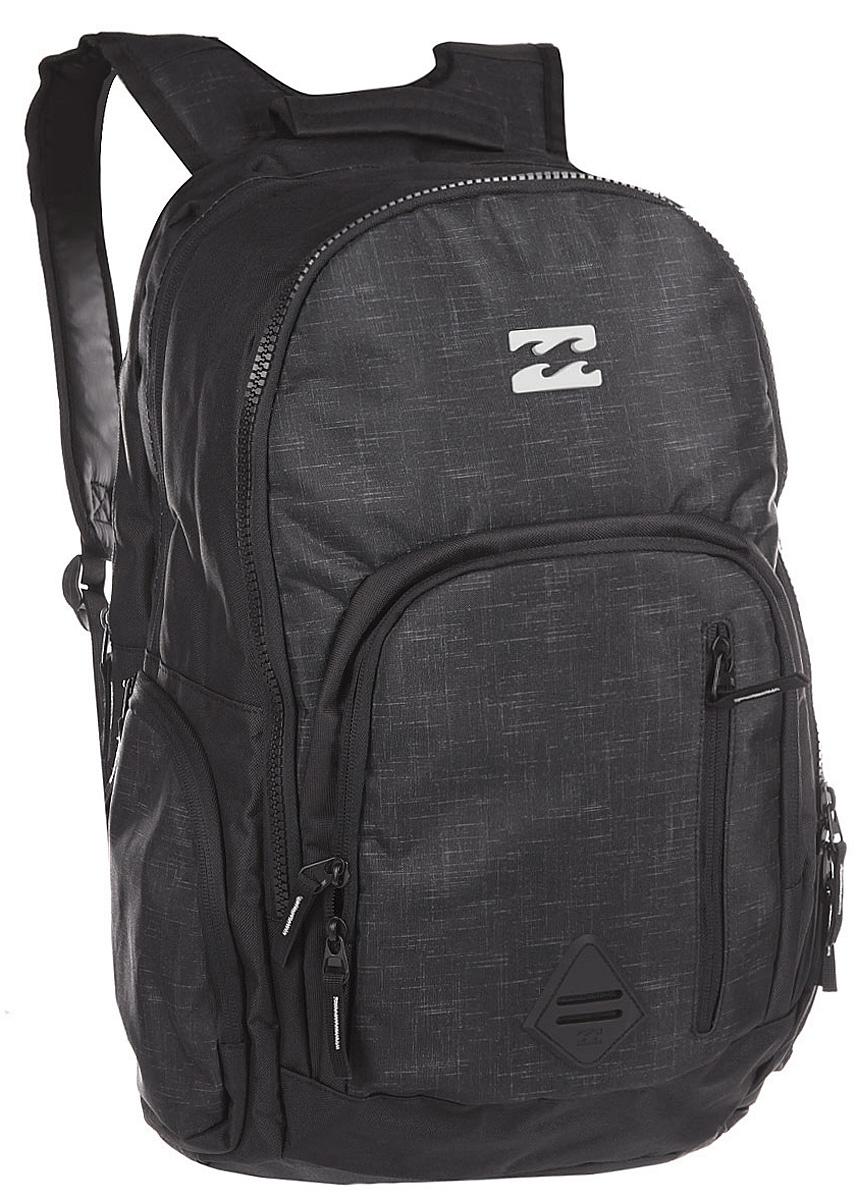 Рюкзак городской Billabong Command, цвет: угольно-черный , 35 лW5BP05Практичный рюкзак, выполненный из износостойких материалов, готовый служить Вам долгое время, сохраняя презентабельный внешний вид. Множество отделений делаю его очень вместительным и позволяют раскладывать вещи так, как Вам удобно. Мягкие вставки на задней панели и эргономичные плечевые лямки