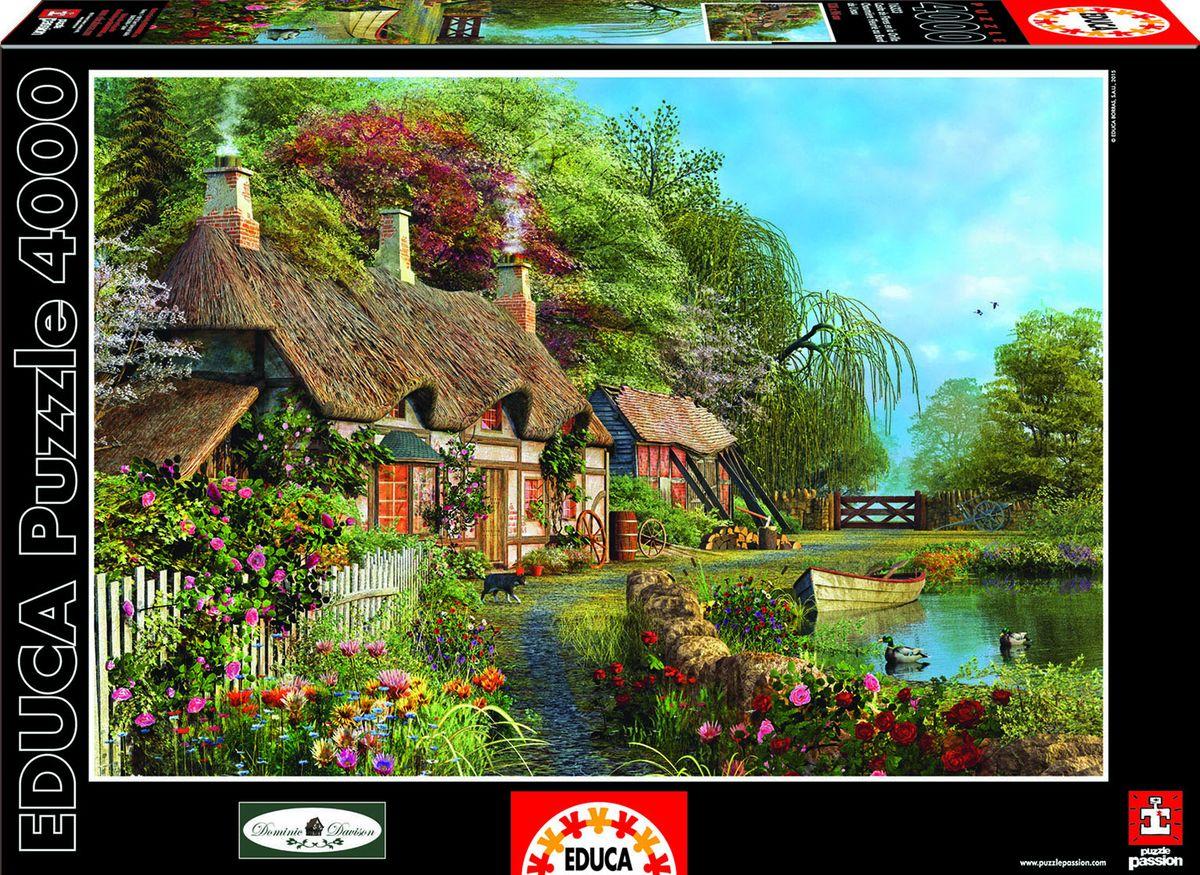 Educa Пазл Дом в цветах16323Пазл 4000 деталей - Дом в цветах.Размер собранного пазла 136х96