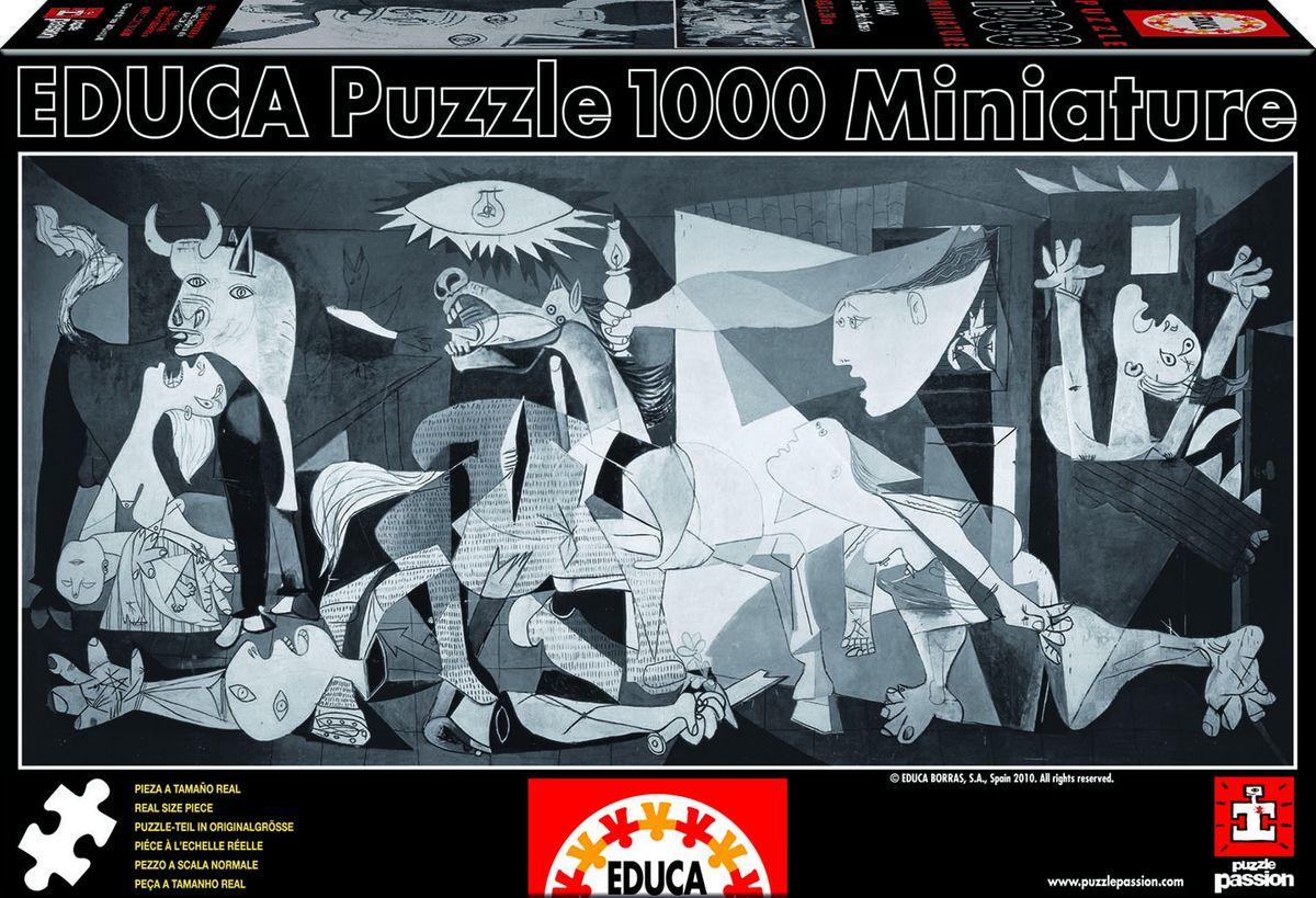 Educa Пазл Герника14460Пазл 1000 деталей Герника мини.Размер собранного пазла 62,5х30