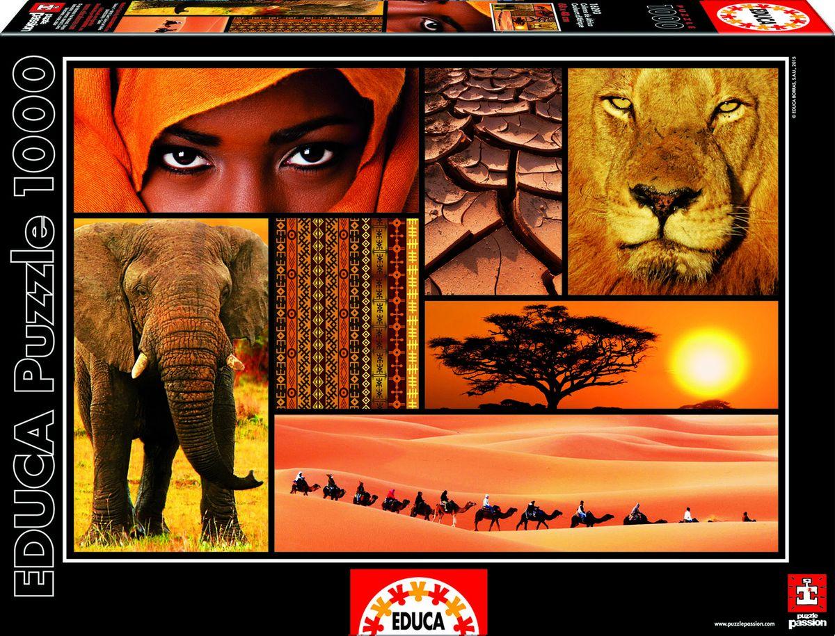 Educa Пазл Цвета Африки16293Пазл 1000 деталей Цвета Африки.Размер собранного пазла 68х48