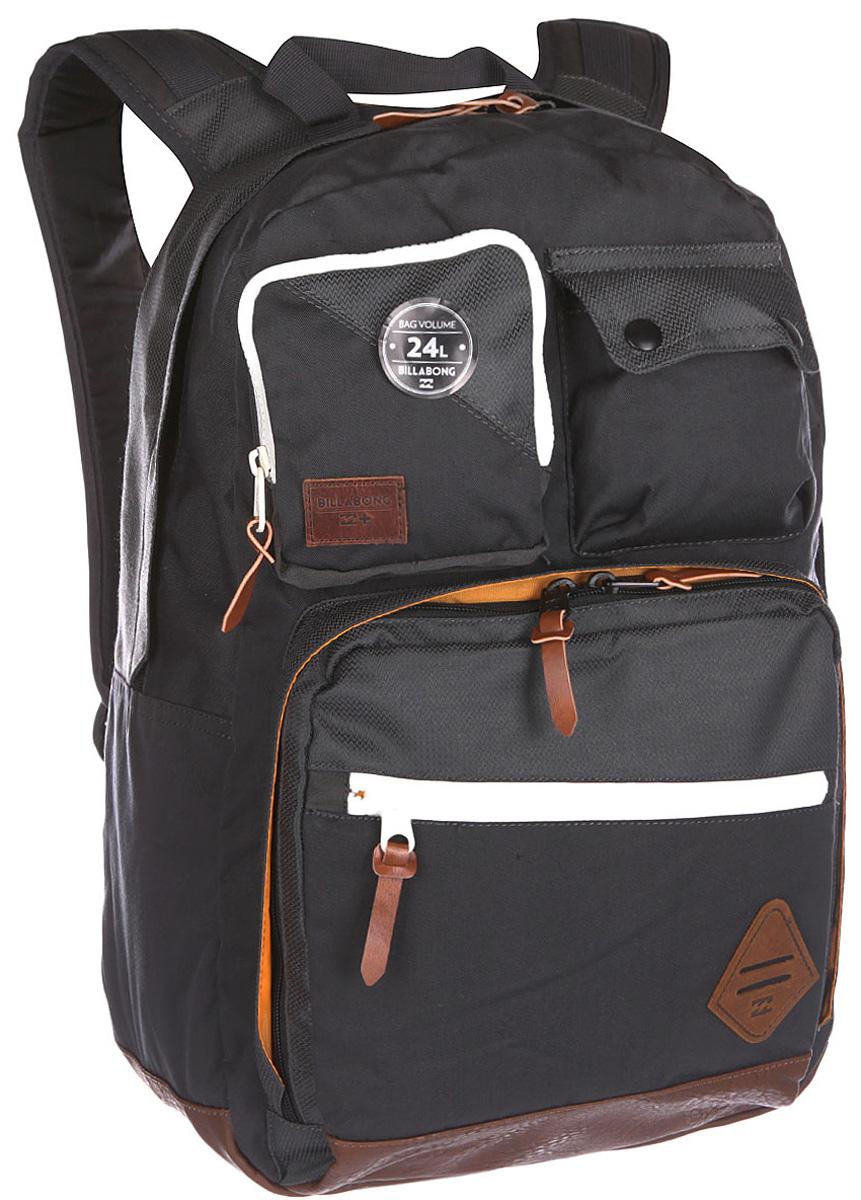 Рюкзак городской Billabong Raider Backpack, цвет: серый, 20 лU5BP07Вместительный функциональный рюкзак с продуманной системой хранения самых необходимых для учебы или работы предметов. Внешний отдельный органайзер на молнии несомненно добавит порядка основному вместительному отсеку. Мягкий карман для ноутбука и планшета, вместительное основное отделение и удобные внешние карманы
