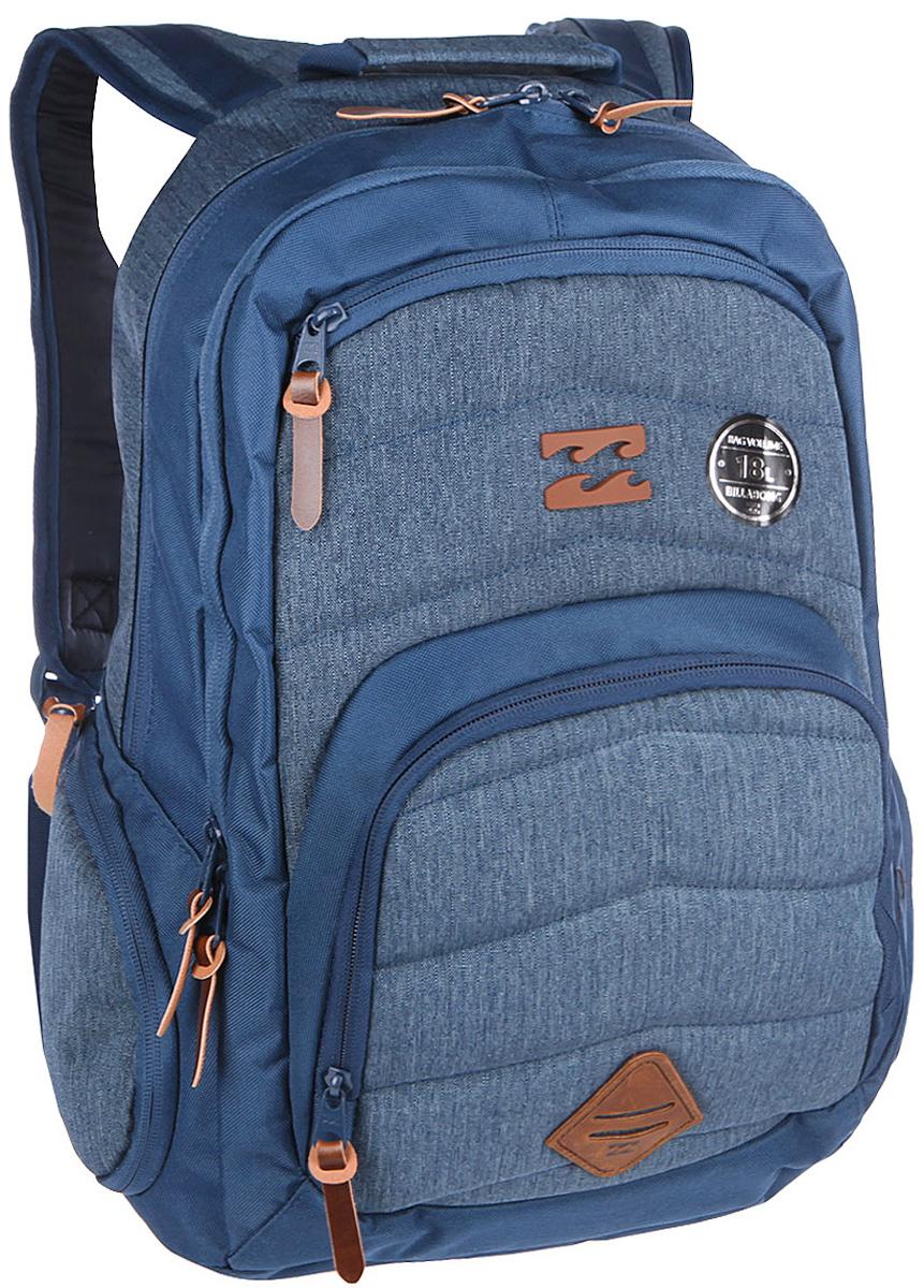 Рюкзак городской Billabong Relay Backpack, цвет: морской , 24 лU5BP04Отличный городской рюкзак с двумя вместительными отделениями и спокойным дизайном, не перегруженным лишними деталями. Небольшой внешний карман на молнии с внутренними отсеками поможет правильно организовать необходимые мелочи, а в боковые карманы с легкостью поместиться, например, бутылка воды.