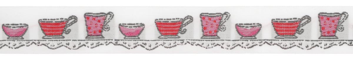 Тесьма декоративная Чайные чашки, цвет: молочный, красный, розовый, 1 м х 20 мм. 35106-0235106-02Изысканная декоративная тесьма Чайные чашки выполнена из высококачественного 100% полиэстера. На ленте изображены чайные чашки разных размеров. Рисунок выполнен из 100% хлопка. Тесьма Acufactum ткется на старинных станках с использованием перфокарт, которые изготавливаются для каждого вида тесьмы с тончайшей проработкой самых мелких деталей. Это достаточно долгий и трудоемкий процесс, но результат того стоит! Тесьма наивысшего уровня качества, которая очень практична в использовании т.к. выдерживает стирку при температуре 60 градусов. А изобилие дизайнов просто потрясает!