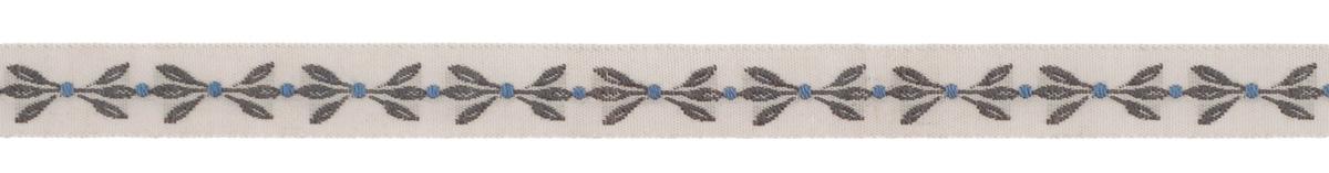 Тесьма декоративная Листья, цвет: бежевый, темно-зеленый, 1 м х 10 мм. 35061-0535061-05Изысканная декоративная тесьма Листья выполнена из высококачественного 100% полиэстера. На ленте изображены листочки. Рисунок выполнен из 100% хлопка. Тесьма Acufactum ткется на старинных станках с использованием перфокарт, которые изготавливаются для каждого вида тесьмы с тончайшей проработкой самых мелких деталей. Это достаточно долгий и трудоемкий процесс, но результат того стоит! Тесьма наивысшего уровня качества, которая очень практична в использовании т.к. выдерживает стирку при температуре 60 градусов. А изобилие дизайнов просто потрясает!
