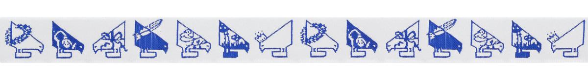 Тесьма декоративная Птицы Акуфактум, цвет: синий, 1 м х 20 мм. 3508035080Изысканная декоративная тесьма Птицы Акуфактум выполнена из высококачественного 100% полиэстера. На ленте изображены птицы. Рисунок имитирует вышивку и выполнен из 100% хлопка. Тесьма Acufactum ткется на старинных станках с использованием перфокарт, которые изготавливаются для каждого вида тесьмы с тончайшей проработкой самых мелких деталей. Это достаточно долгий и трудоемкий процесс, но результат того стоит! Тесьма наивысшего уровня качества, которая очень практична в использовании т.к. выдерживает стирку при температуре 60 градусов. А изобилие дизайнов просто потрясает!