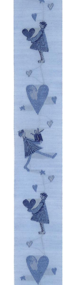 Тесьма декоративная Дети Швеции, цвет: голубой, синий, 1 м х 30 мм. 3505935059Тесьма декоративная Дети Швеции выполнена из высококачественного 100% полиэстера. На ленте изображены сердца и забавные человечки. Рисунок выполнен из 100% хлопка. Тесьма Acufactum и сегодня ткется на старинных станках с использованием перфокарт, которые изготавливаются для каждого вида тесьмы с тончайшей проработкой самых мелких деталей. Это достаточно долгий и трудоемкий процесс, но результат того стоит! Тесьма наивысшего уровня качества, которая очень практична в использовании, т.к. выдерживает стирку при температуре 60 градусов. А изобилие дизайнов просто потрясает!
