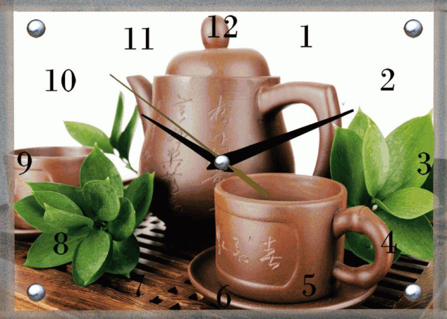Часы настенные Proffi Home Чайная параВ11339Материал: постер с тиснением, лак, стекло, ДВП, часовой механизм Размеры: 20х30см Индивидуальная упаковка: коробка белый картон.